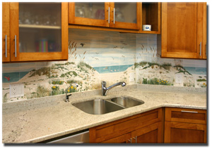 hand painted tiles for kitchen backsplash by bettina elsner
