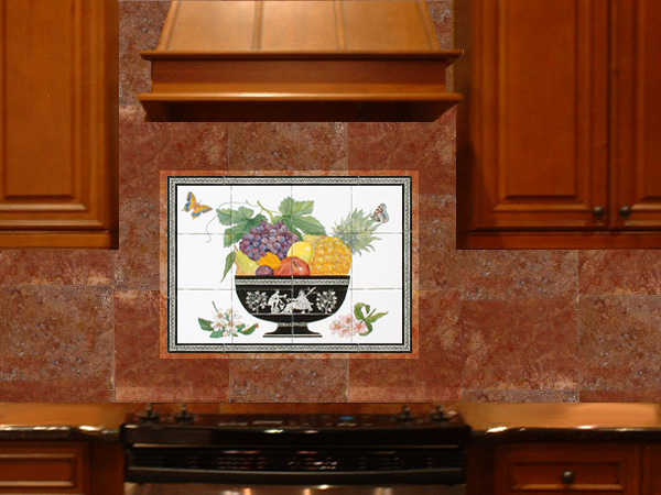 fruitbowl backsplash in kitchen