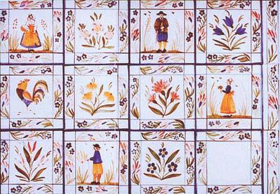 painted tile designs. France Painted Tile Designs